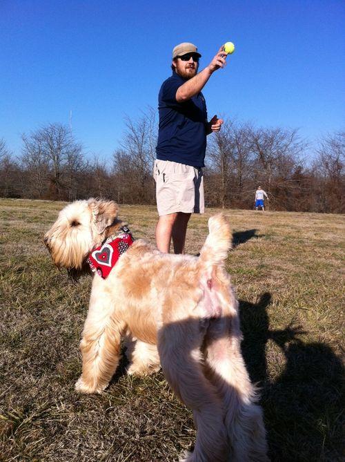 Zac throwing ball vera