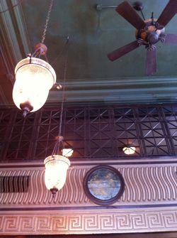 Brass door ceiling