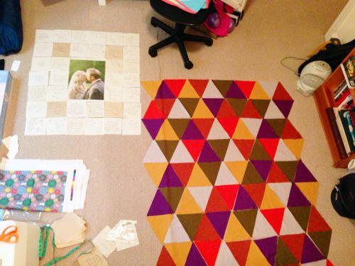 Wedding quilt & Pyramid Layout