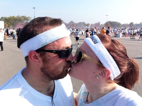 Color run kiss