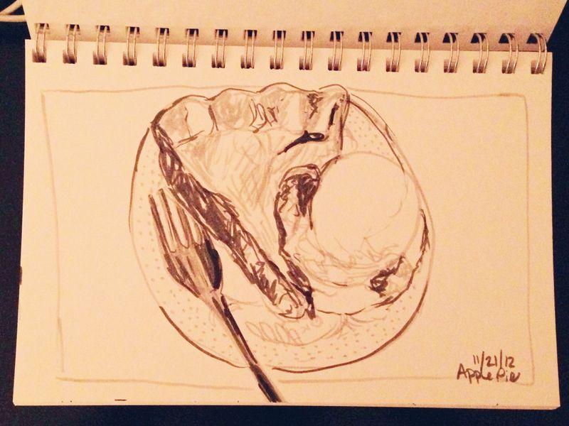 Apple pie sketch