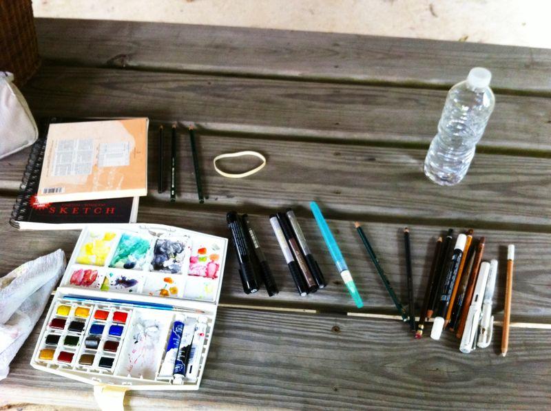 Sketching supplies