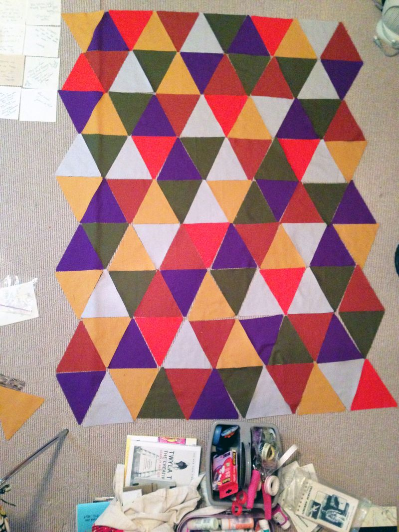 Pyramid Quilt Layout