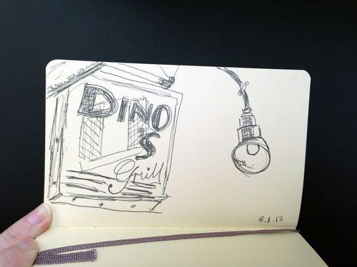 Dino ouside sketch