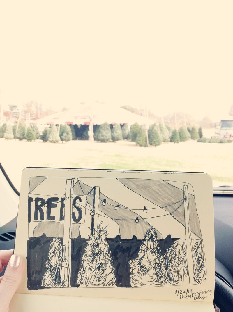 Tree lot sketch
