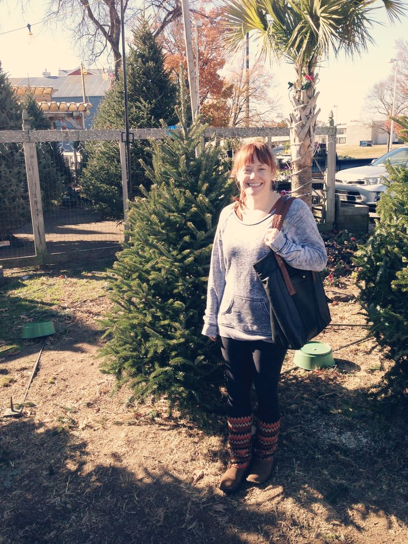 Me by tree