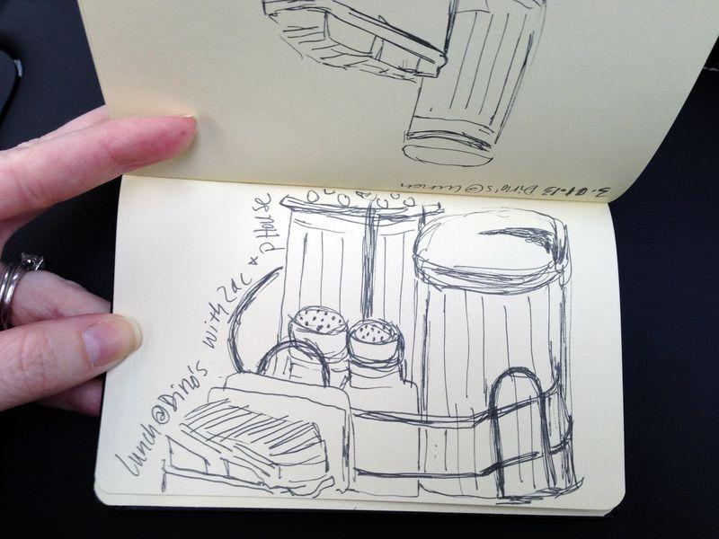 Dino inside sketch